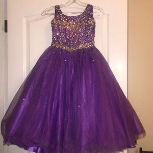 Purple Tiffany pageant dress